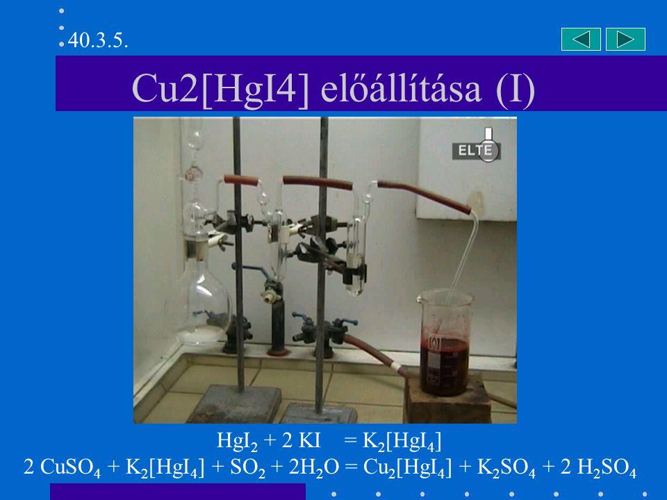Cu2[HgI4] előállítása (I)